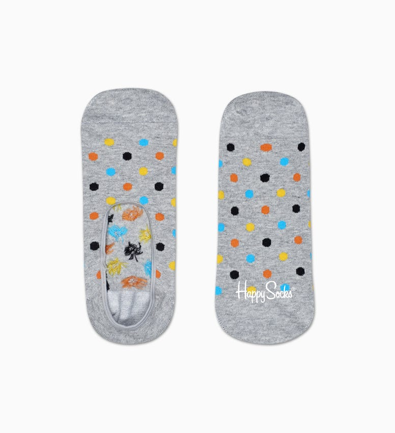 Grey Cotton Liner socks: Dot pattern | Happy Socks