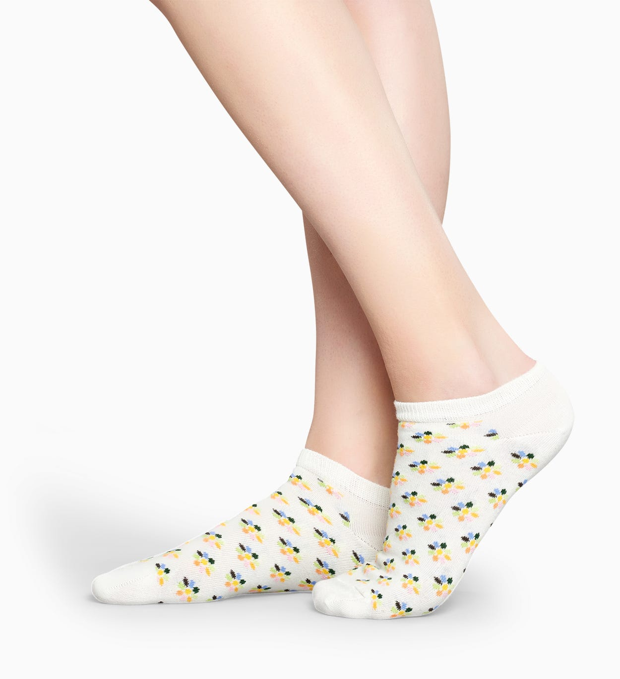 Calzini Corti Fiore Bianchi: Mini Flower | Happy Socks