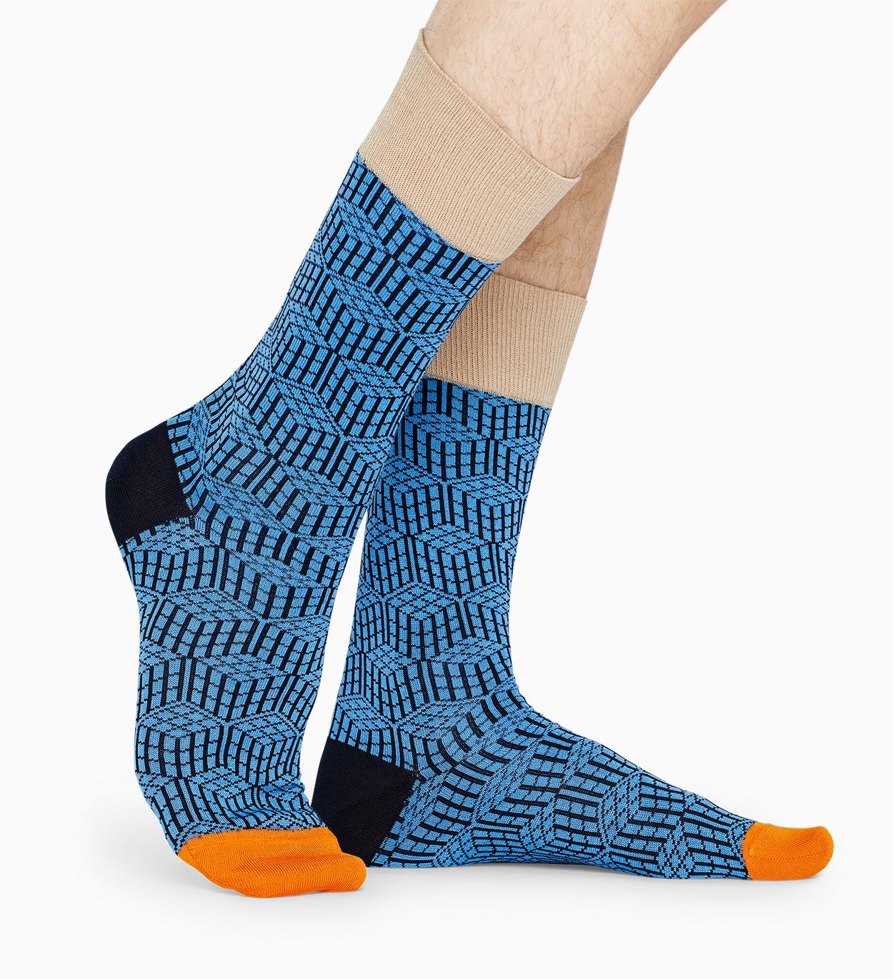 Blaue Anzugsocken: Geometric - DRESSED | Happy Socks