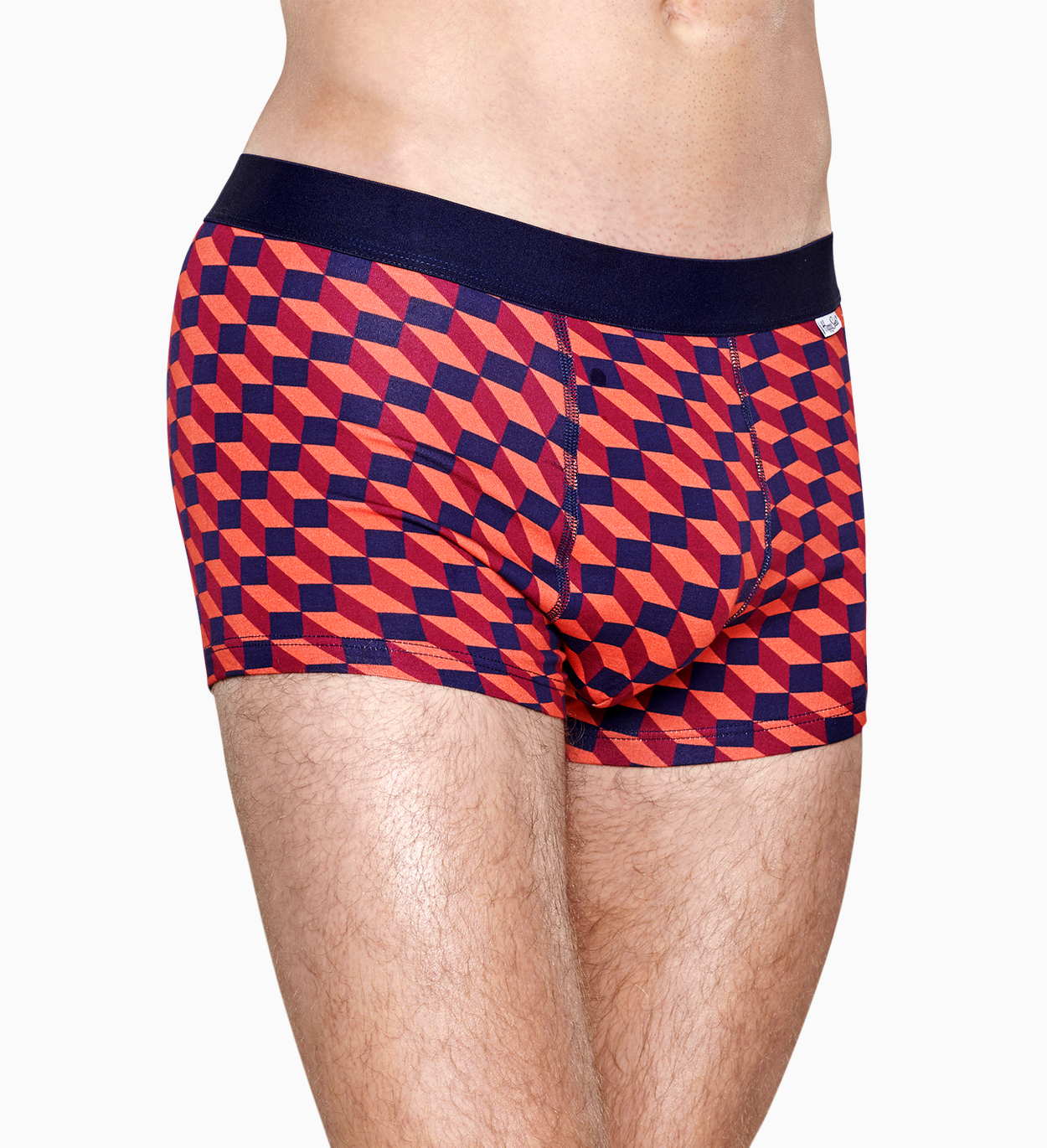 Intimo Uomo: Filled Optic Boxer, Rosso | Happy Socks