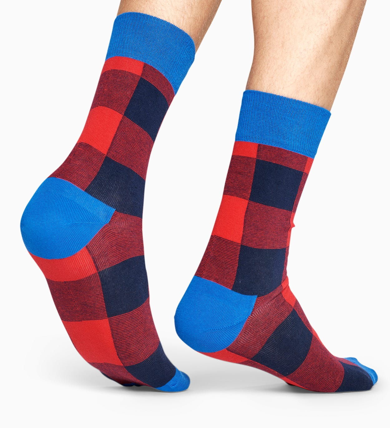 Red socks: Gingham pattern | Happy Socks