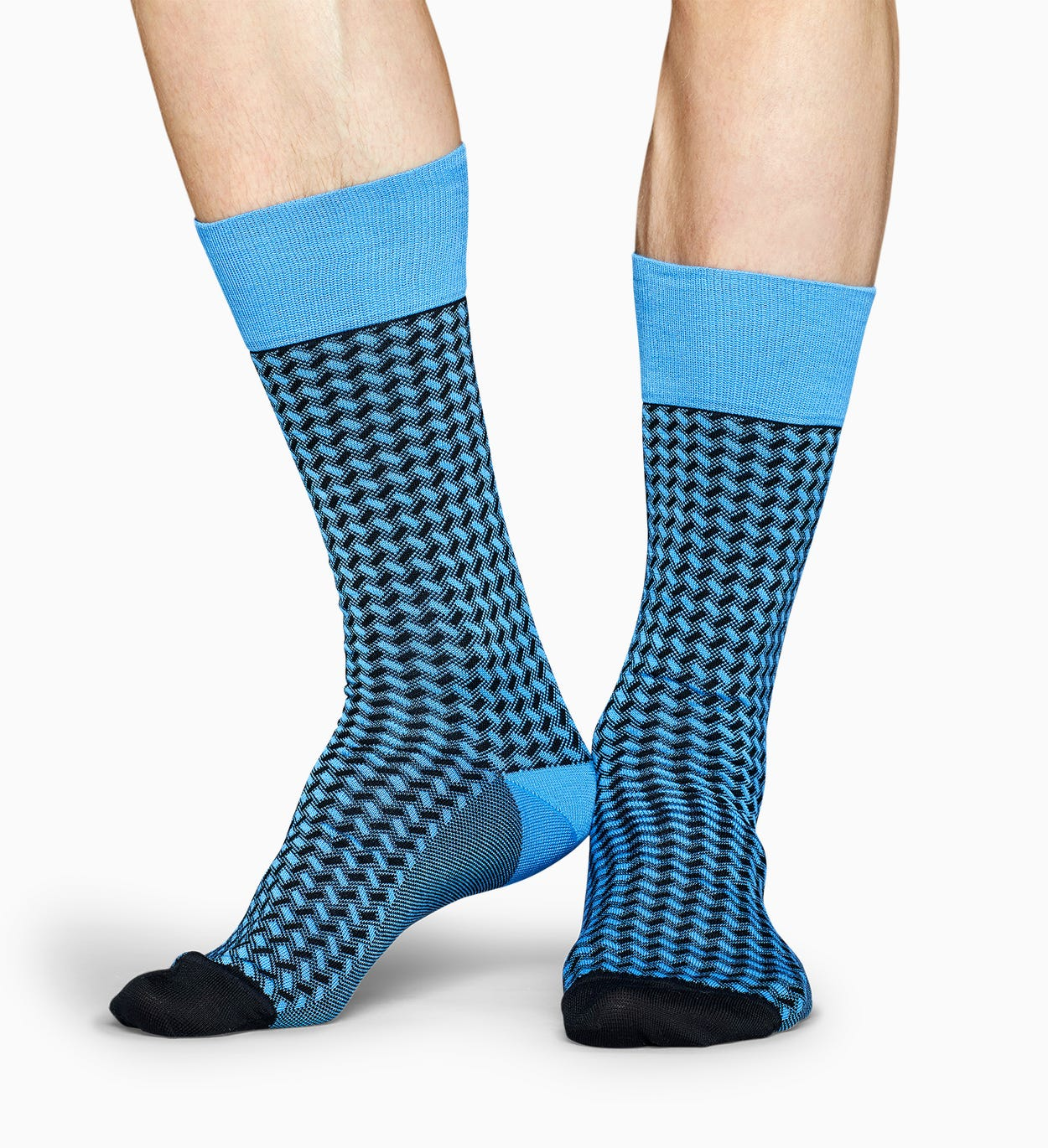 블루 드레스 양말: Basket Weave - Dressed | Happy Socks