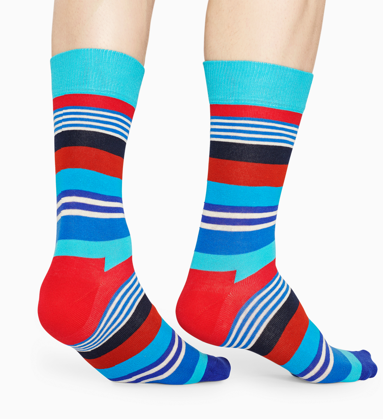 Blue cotton socks: Multi Stripe pattern | Happy Socks