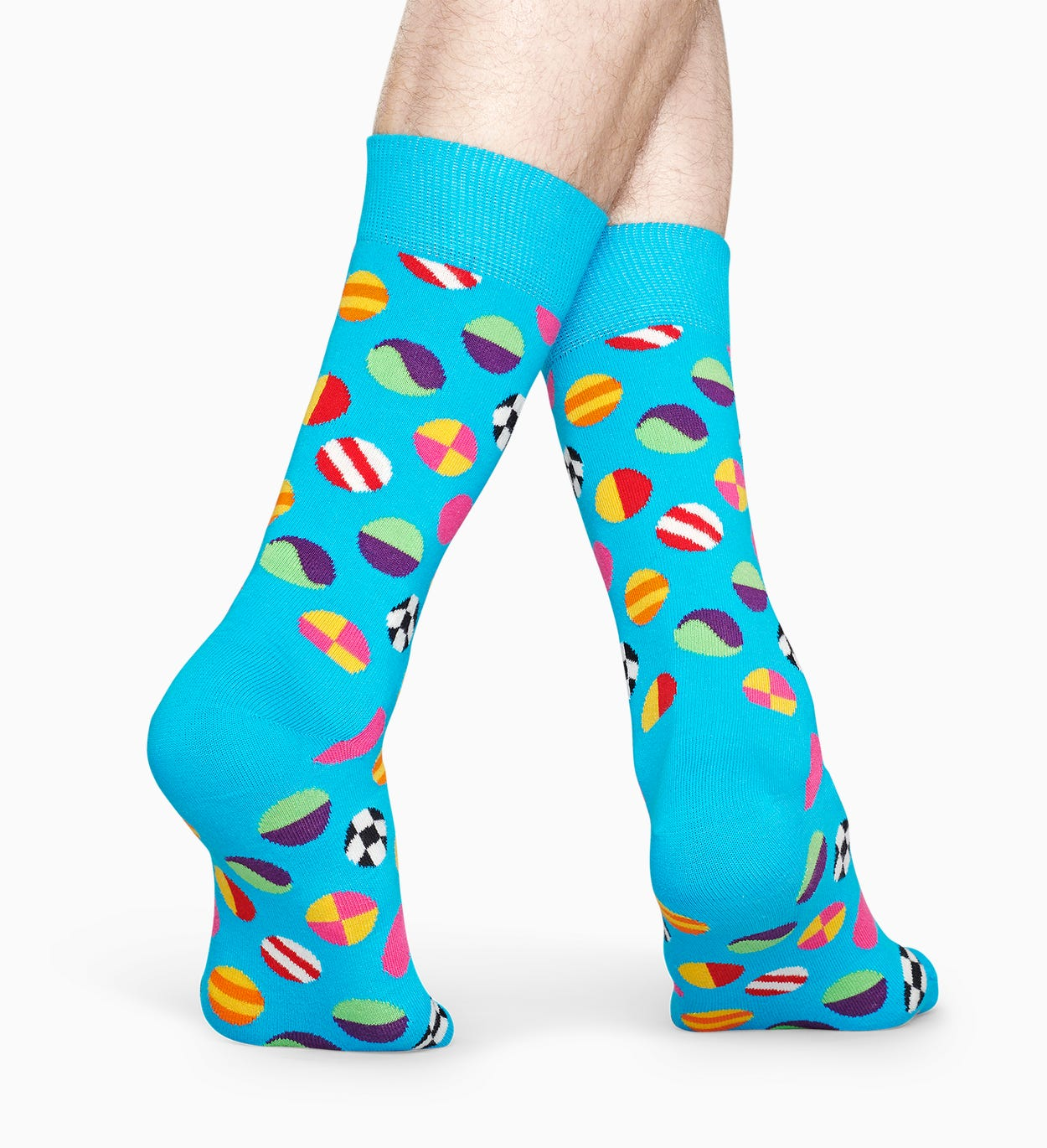 Patterned Blue Socks: Clashing Dot | Happy Socks