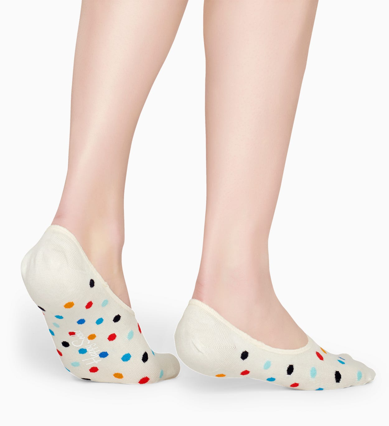 Socquettes liner Blanches: Dot | Happy Socks