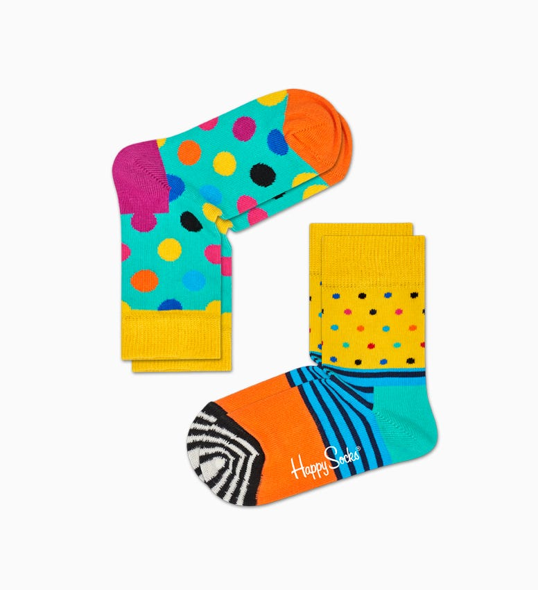 Kids 2-Pack Big Dot Socks