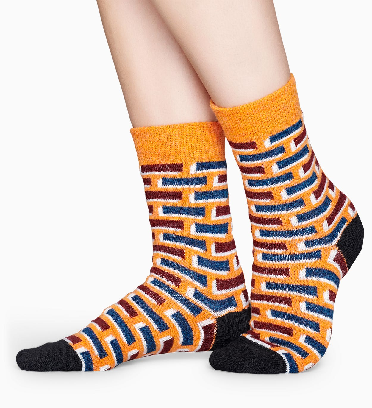 Orange Wollsocken: Ziegel | Happy Socks