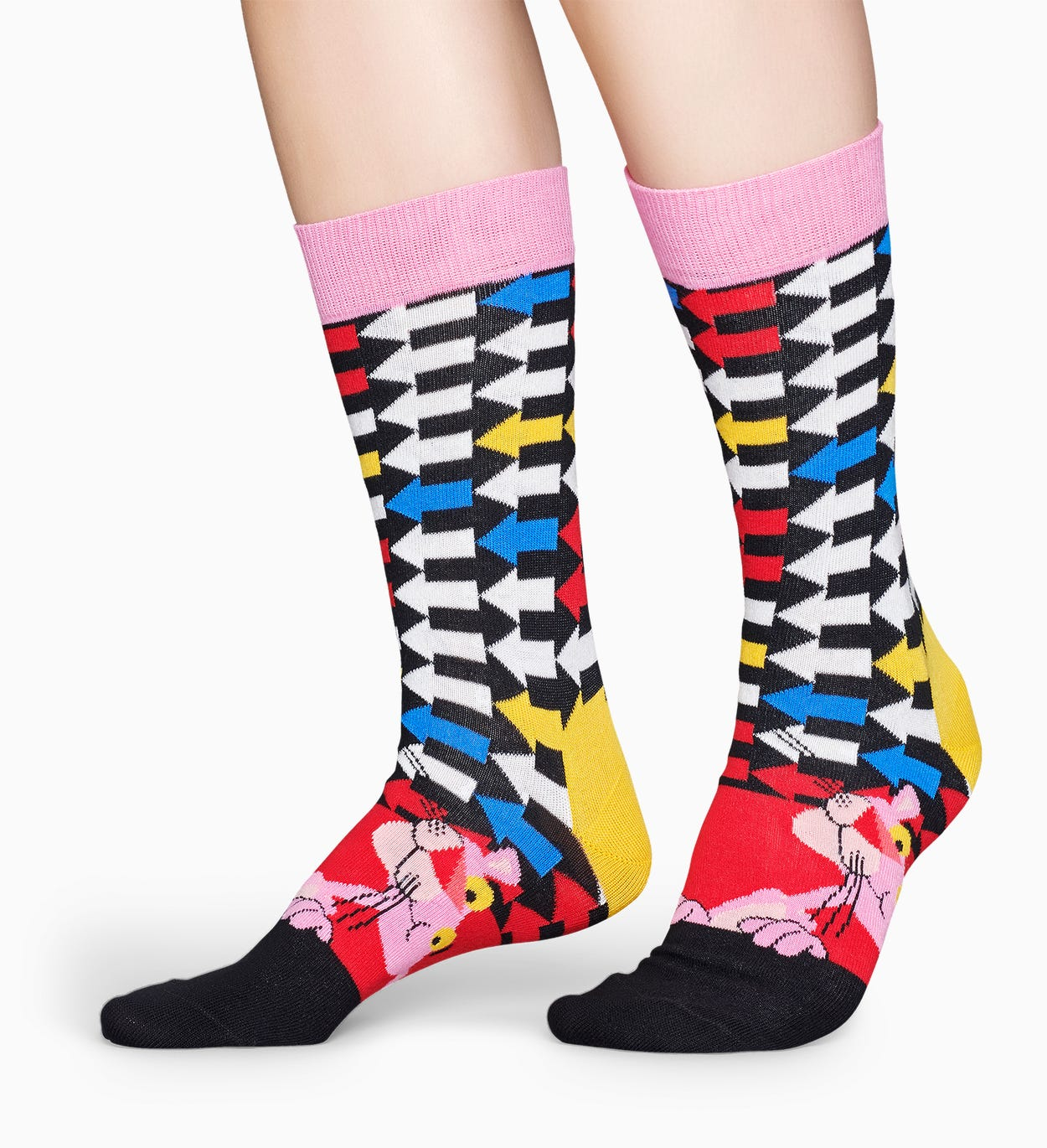 Happy Socks x Pink Panther: Jet Pink 양말