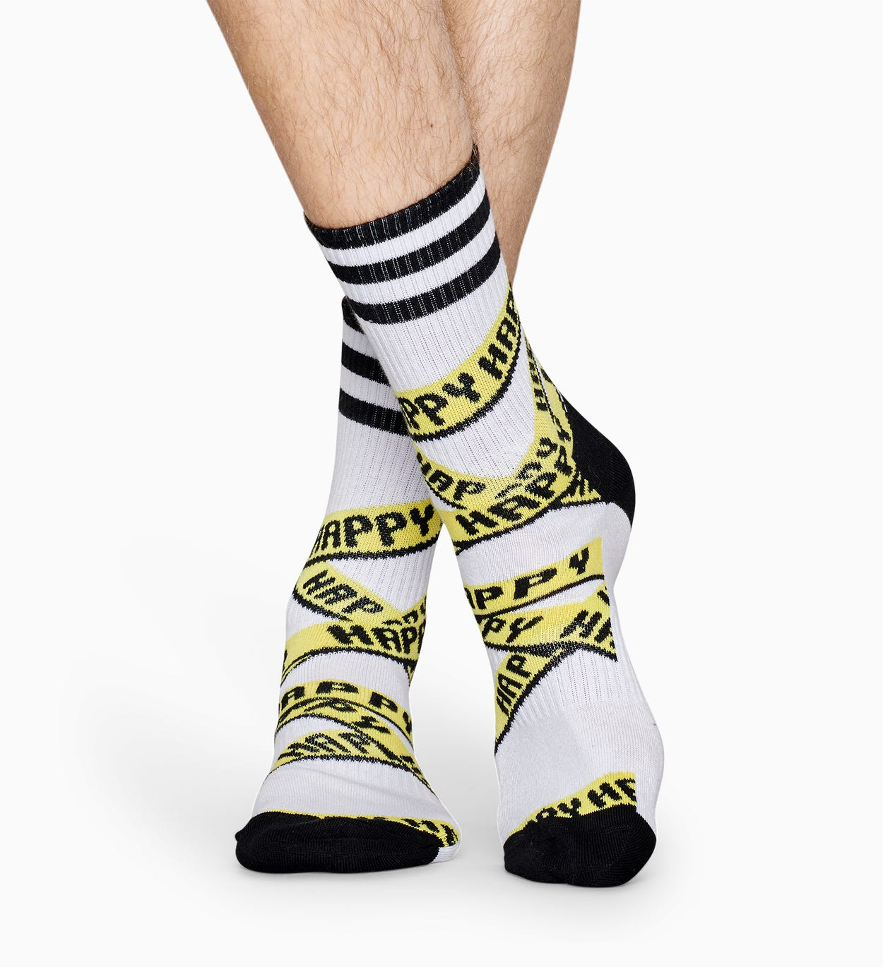 White sport socks: Ribbon - ATHLETIC | Happy Socks