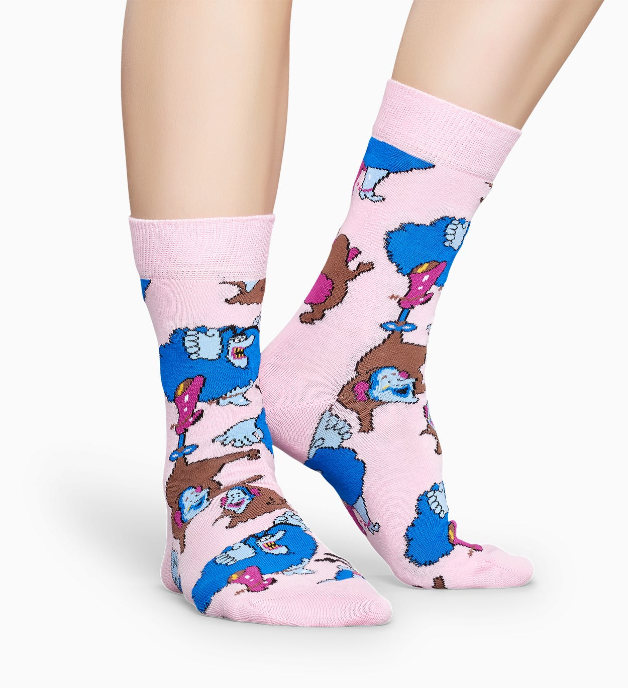 The Beatles 핑크색 양말:  Blue Meanie And Jeremy | Happy Socks