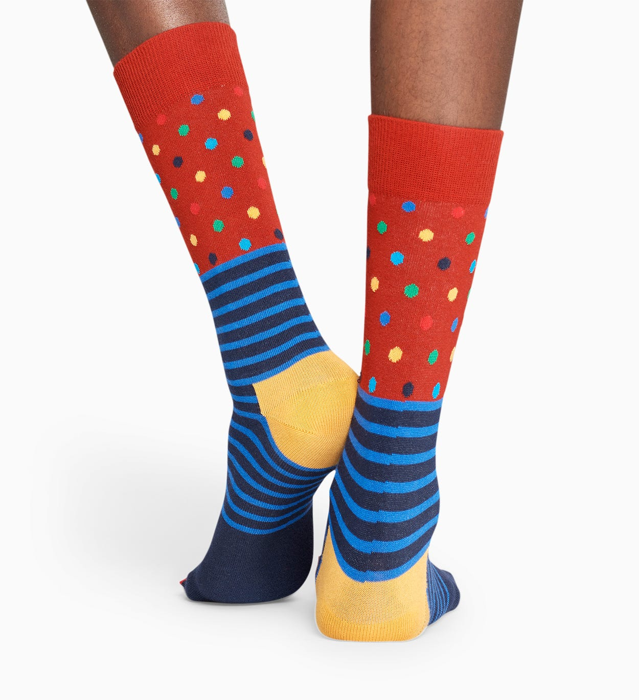 Blue And Red socks: Stripes And Dots pattern | Happy Socks