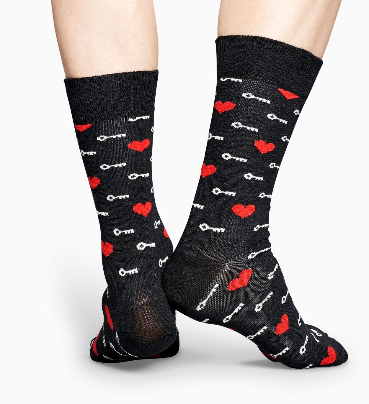 Calcetines Negros: Key To My Heart | Happy Socks