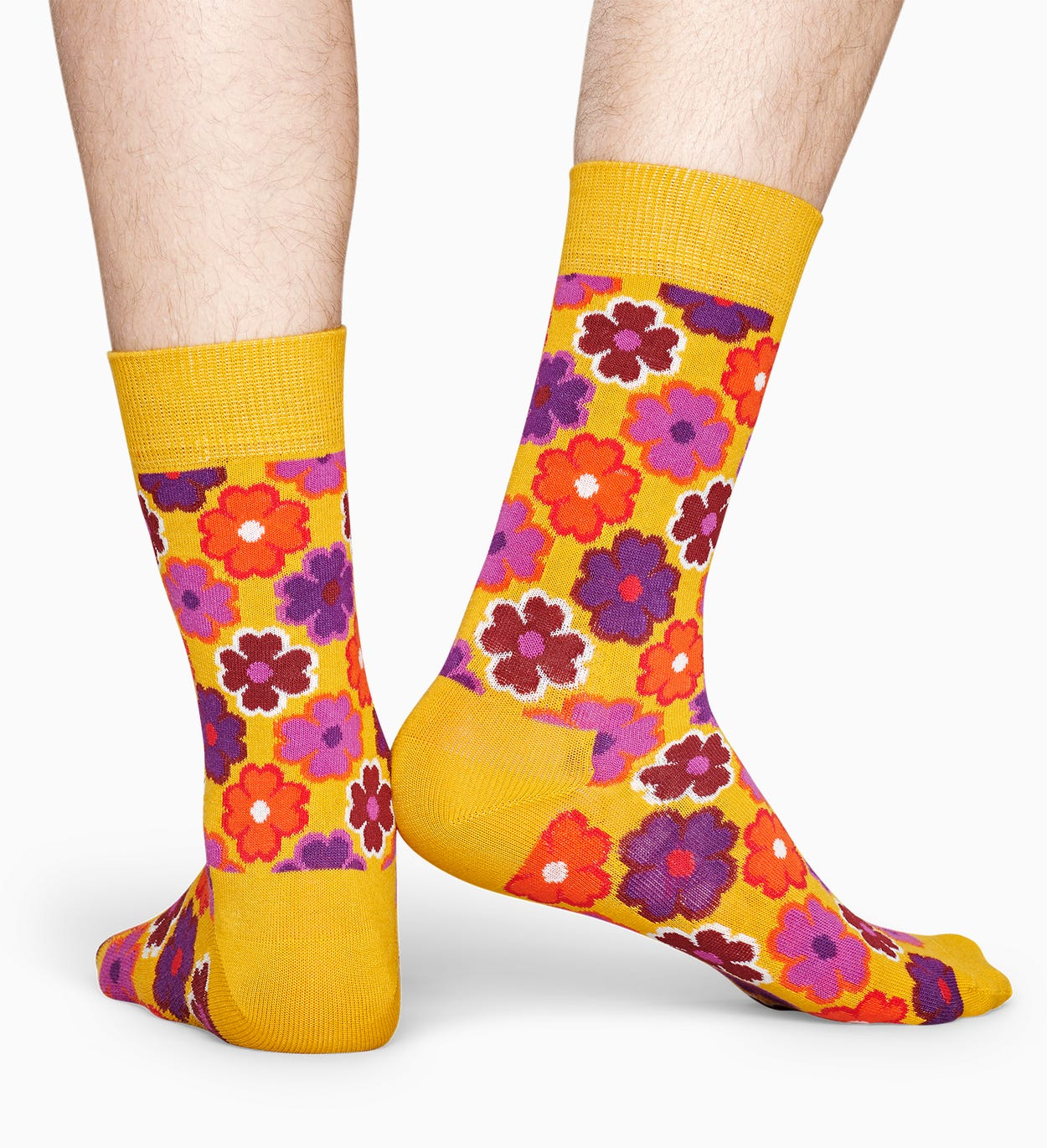 Chaussettes Jaunes à motif: Flower Power | Happy Socks