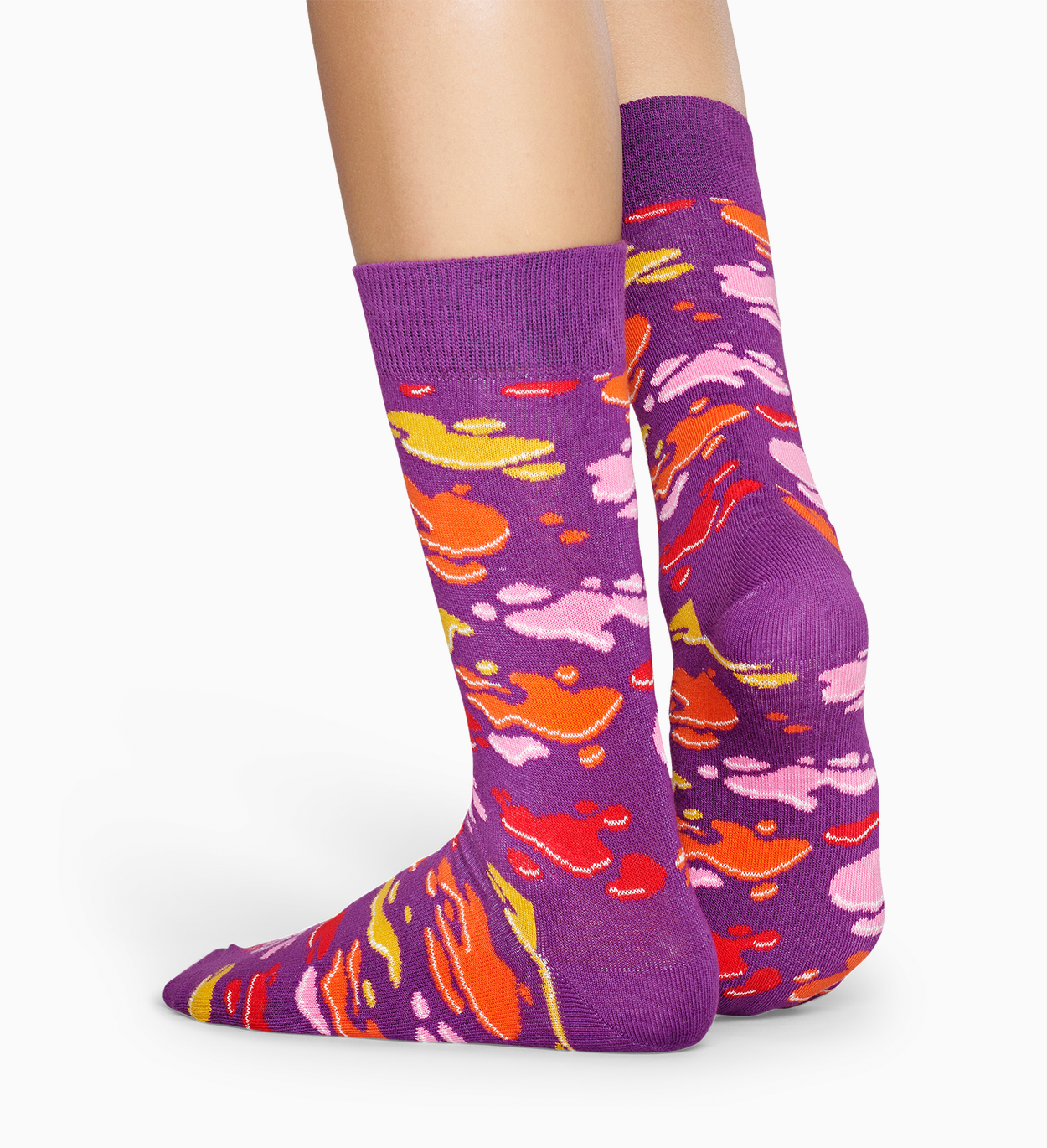 Patterned Purple Socks: Puddle | Happy Socks