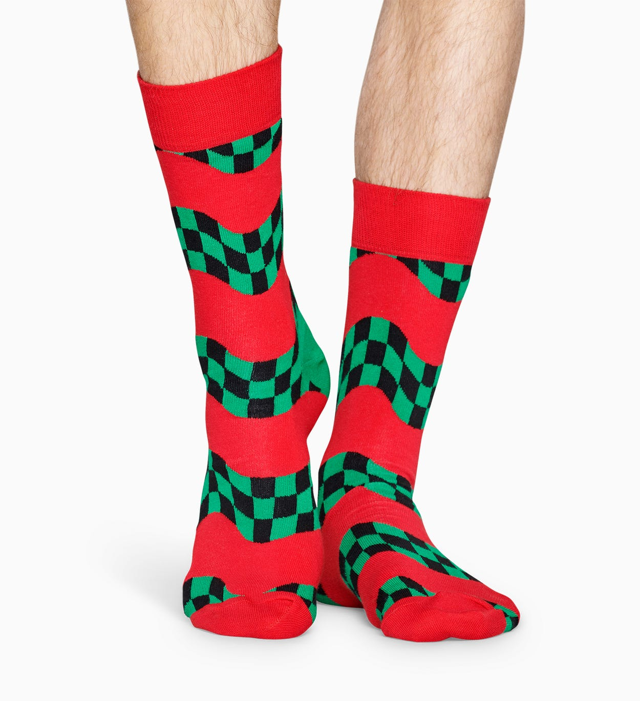 Patterned Red Socks: Race | Happy Socks