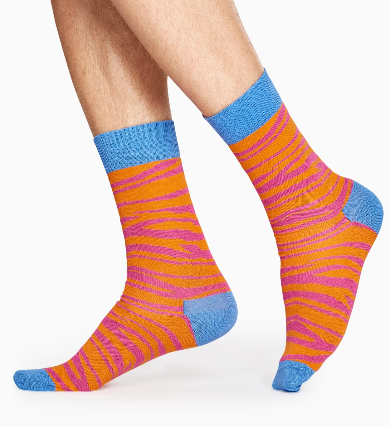 Orange socks: Zebra pattern | Happy Socks