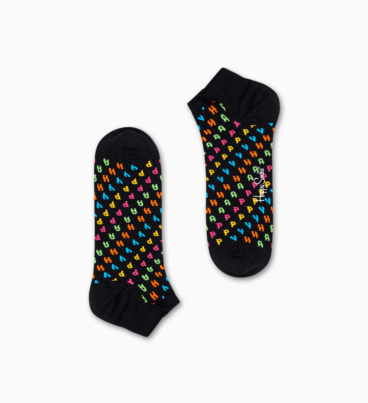 Schwarze Low Socken: Happy | Happy Socks