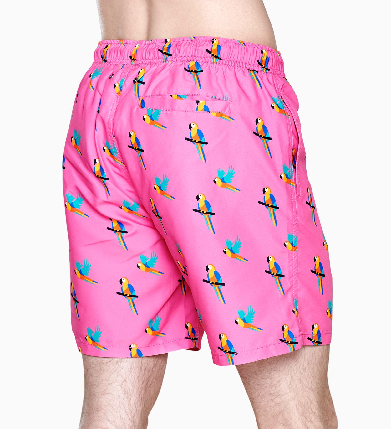 Colourful Swim Shorts: Parrot pattern - Pink | Happy Socks