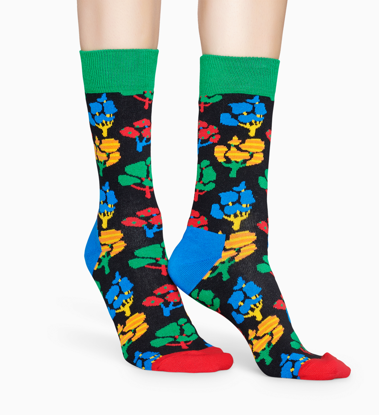 Patterned Black Socks: Tree | Happy Socks