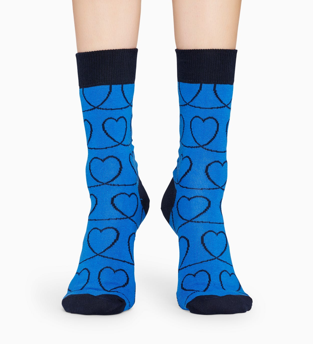 Blaue Baumwollsocken: Loveline Muster | Happy Socks