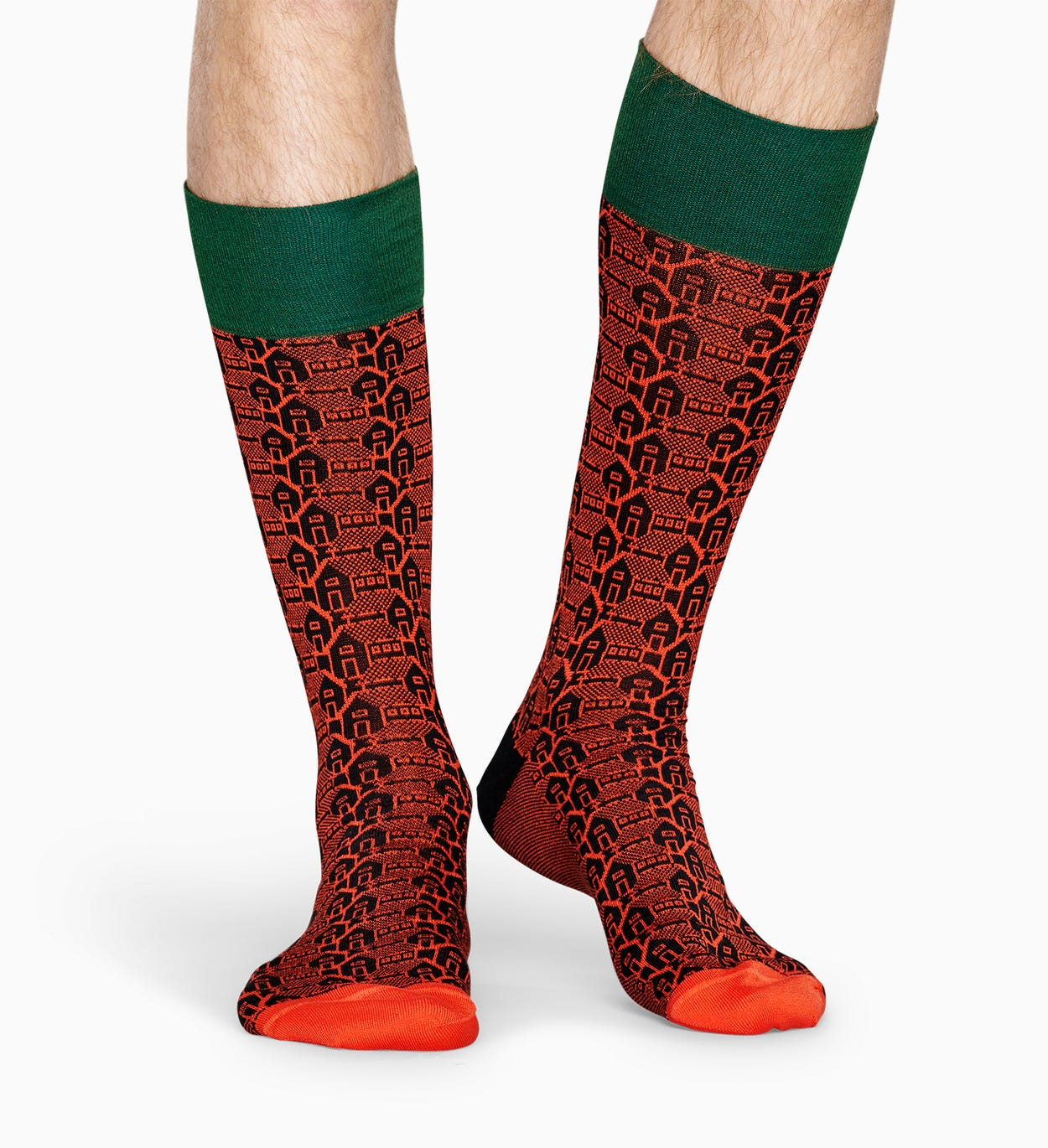 Orange Anzugsocken: Architektur - Dressed | Happy Socks