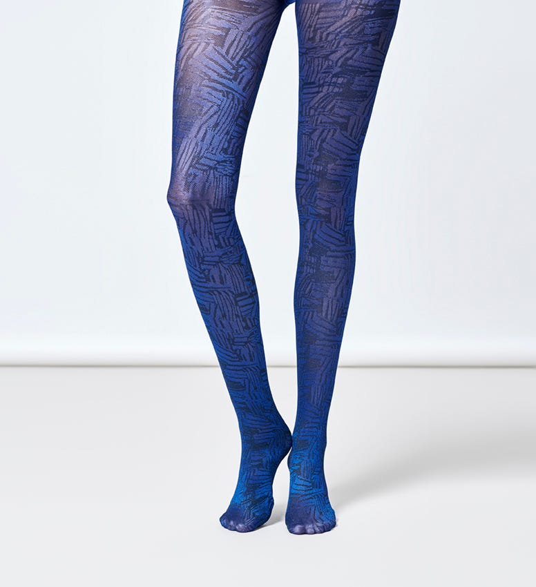 Blue Tights for women: Sophie | Hysteria by Happy Socks