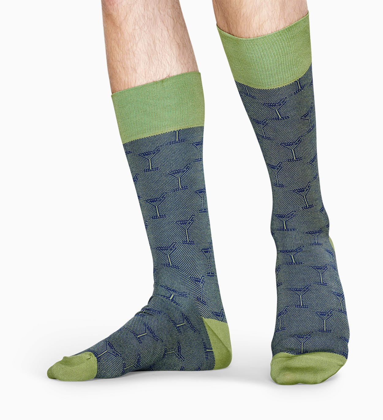 Green suit socks: Cocktail - Dressed | Happy Socks