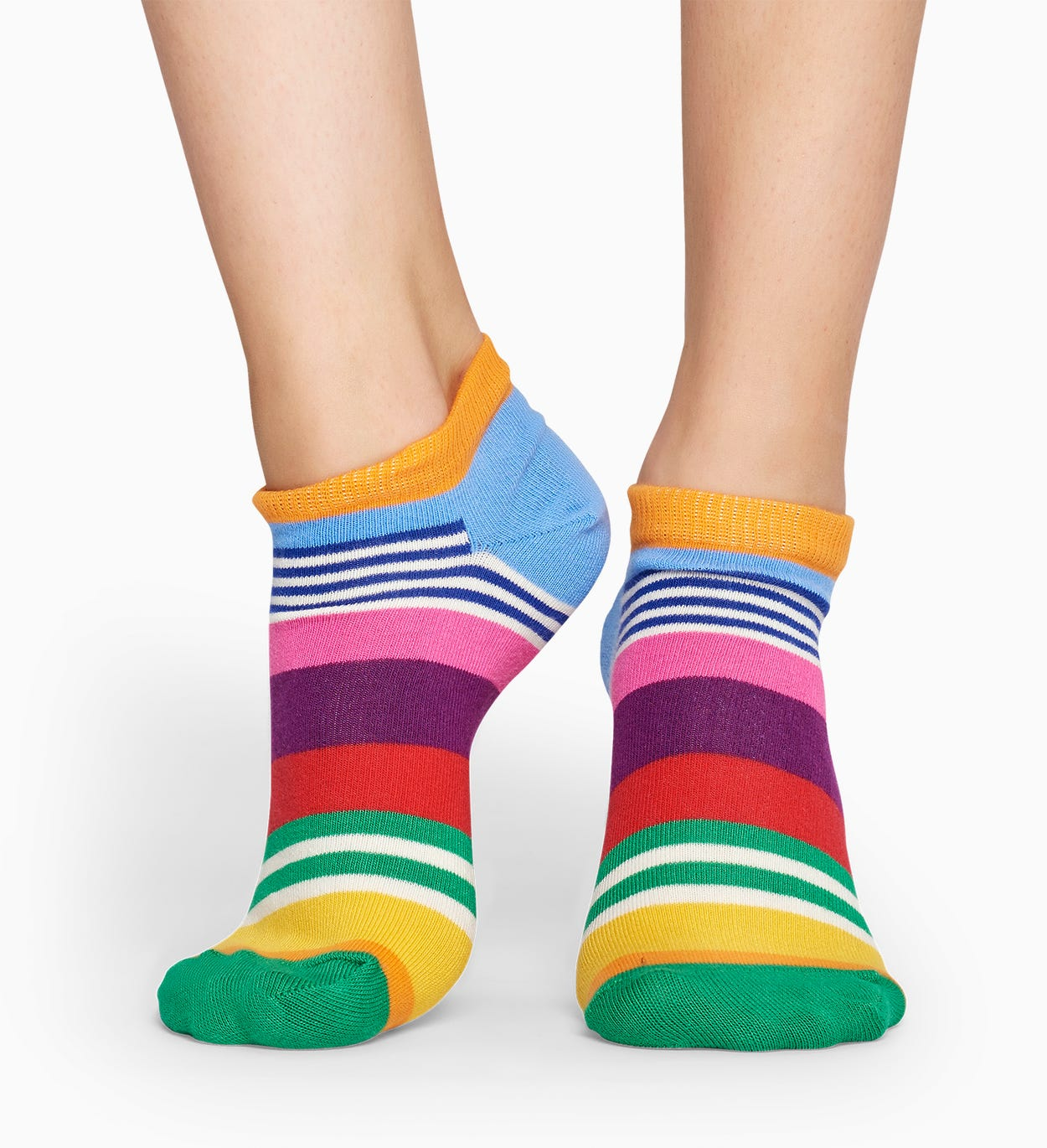 Blue low socks: Multi Stripe | Happy Socks