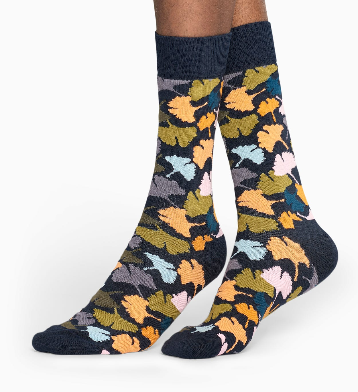 Dark Blue socks: Ginko pattern | Happy Socks