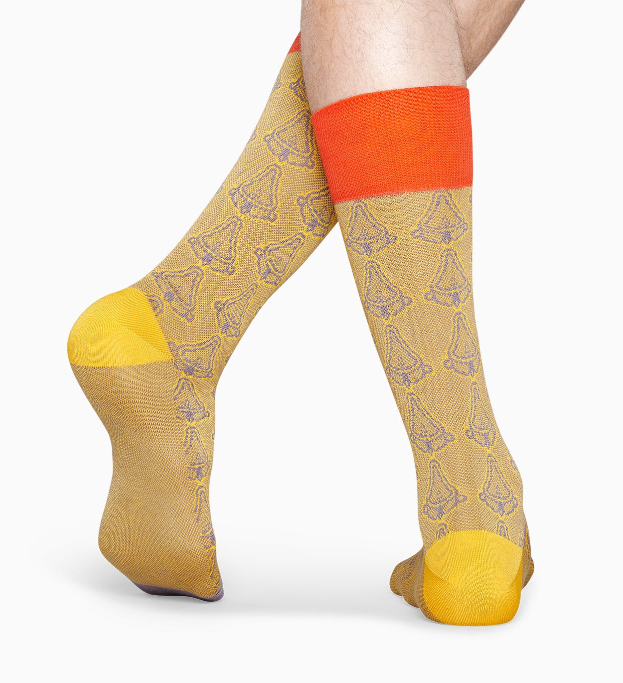 Gelb Anzugsocken: Kunst - Dressed | Happy Socks
