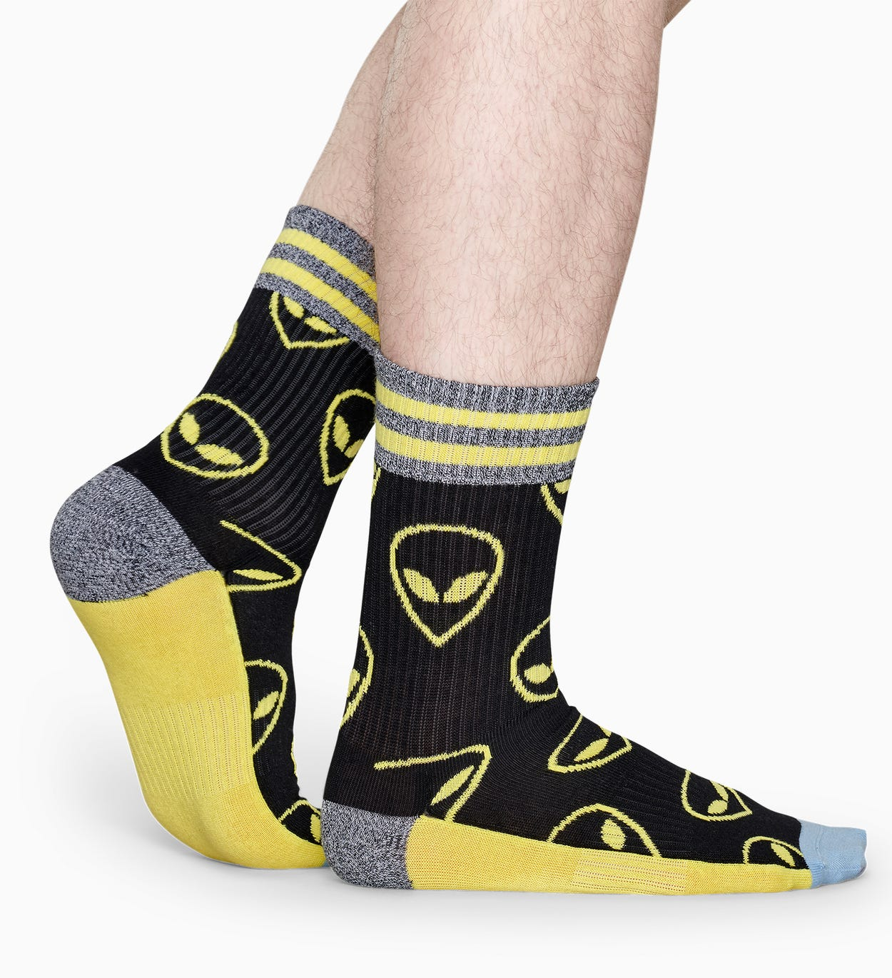 Sorte sportssokker: Alien - ATHLETIC | Happy Socks