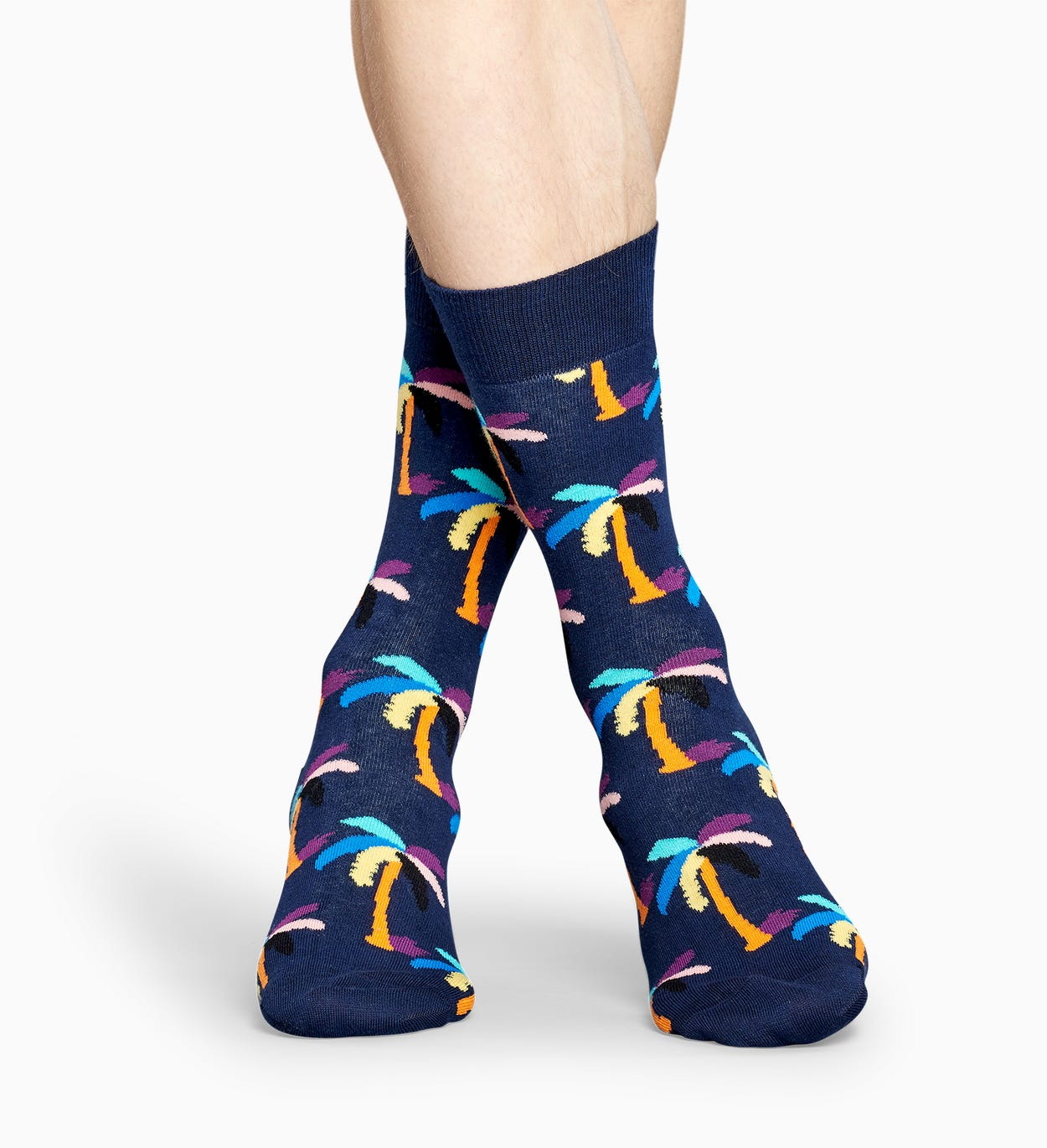 Dunkelblaue Palmen Socken: Palm | Happy Socks