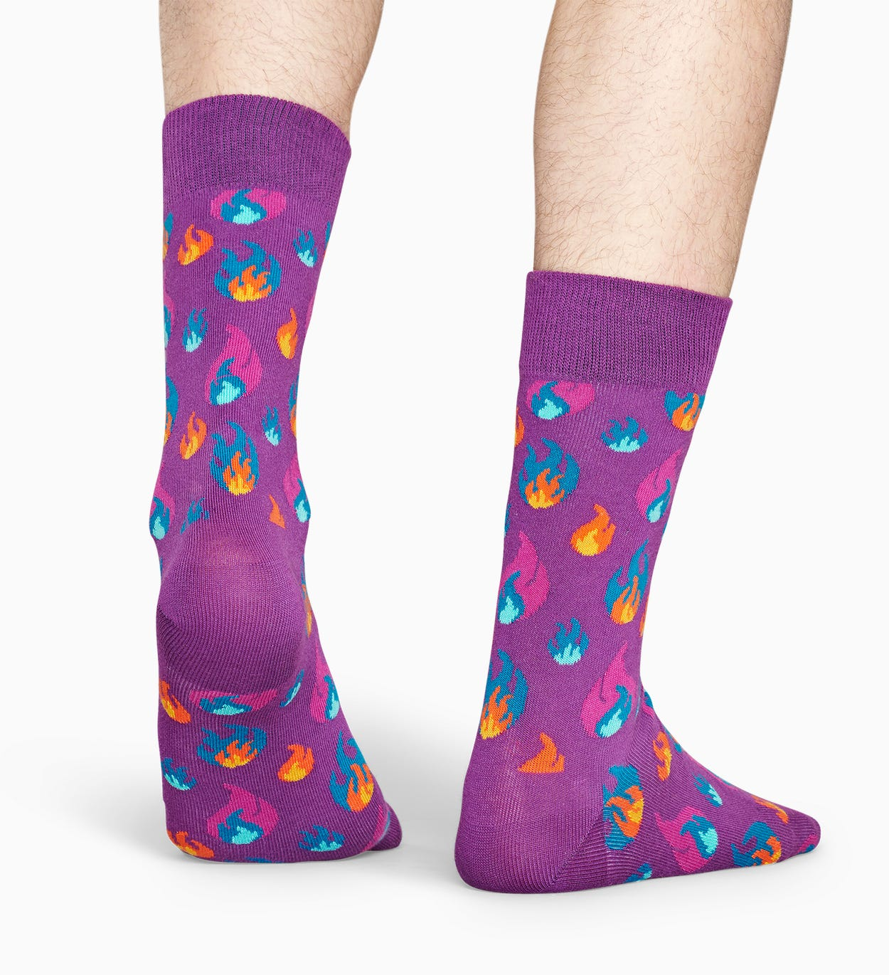 Gemusterte lilafarbene Socken: Flammen | Happy Socks