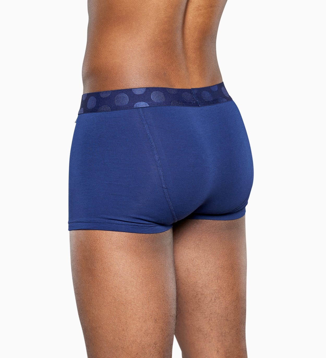 Blue trunk: Solid - Men's Underwear 3pc | Happy Socks