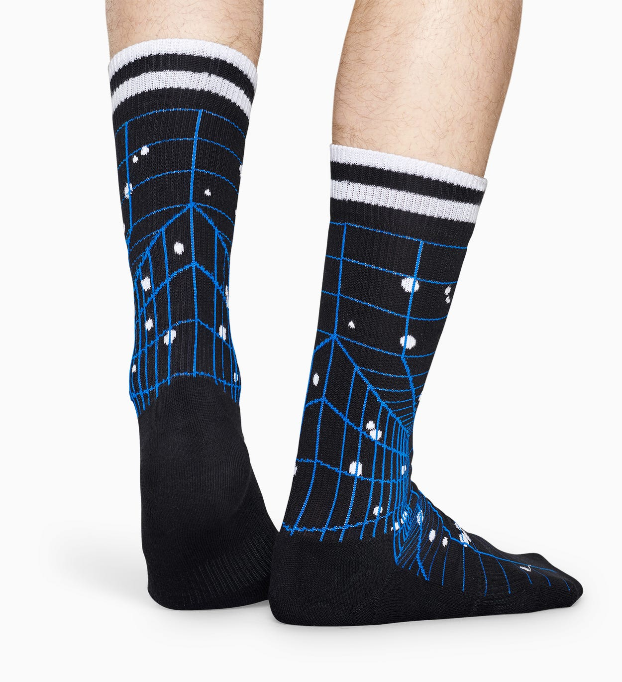 Nero Calze sportive: Grid - ATHLETIC | Happy Socks