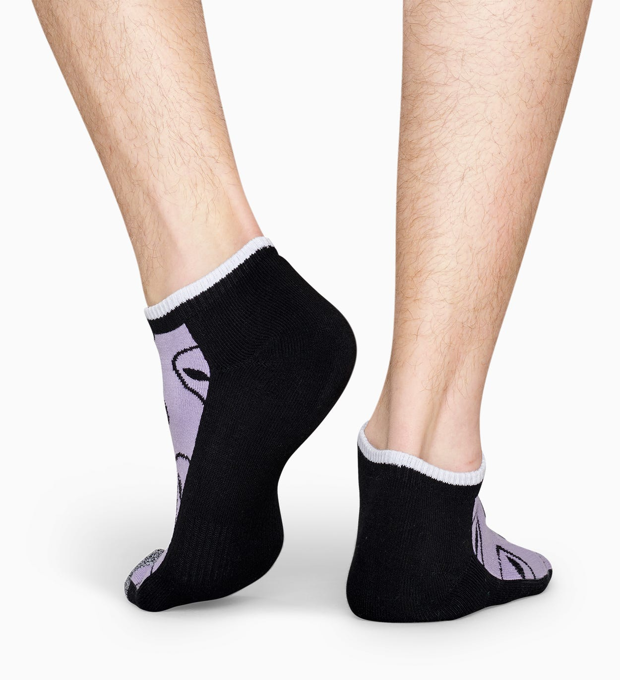 Purple low sport socks: Alien - ATHLETIC | Happy Socks