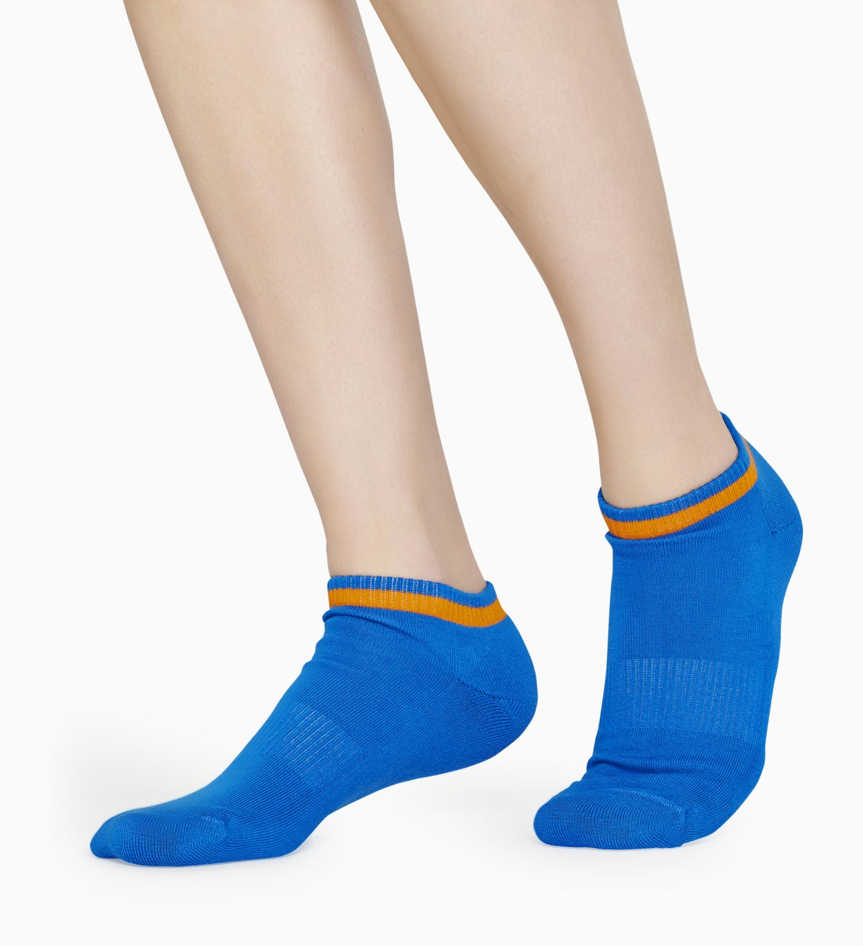 Blauwe lage sokken 2-pack:: Big Dot - ATHLETIC | Happy Socks