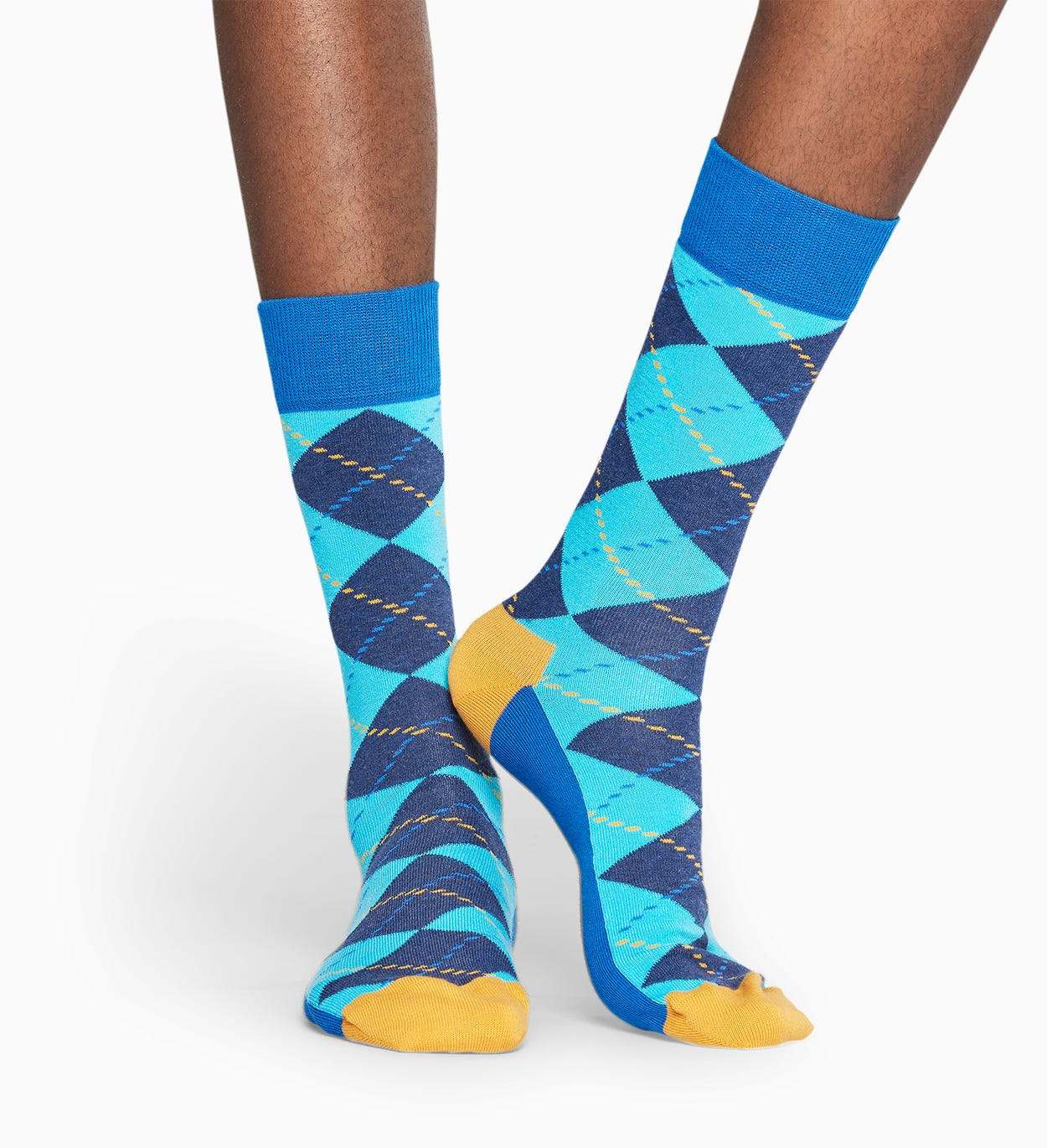 Blue socks: Argyle pattern | Happy Socks