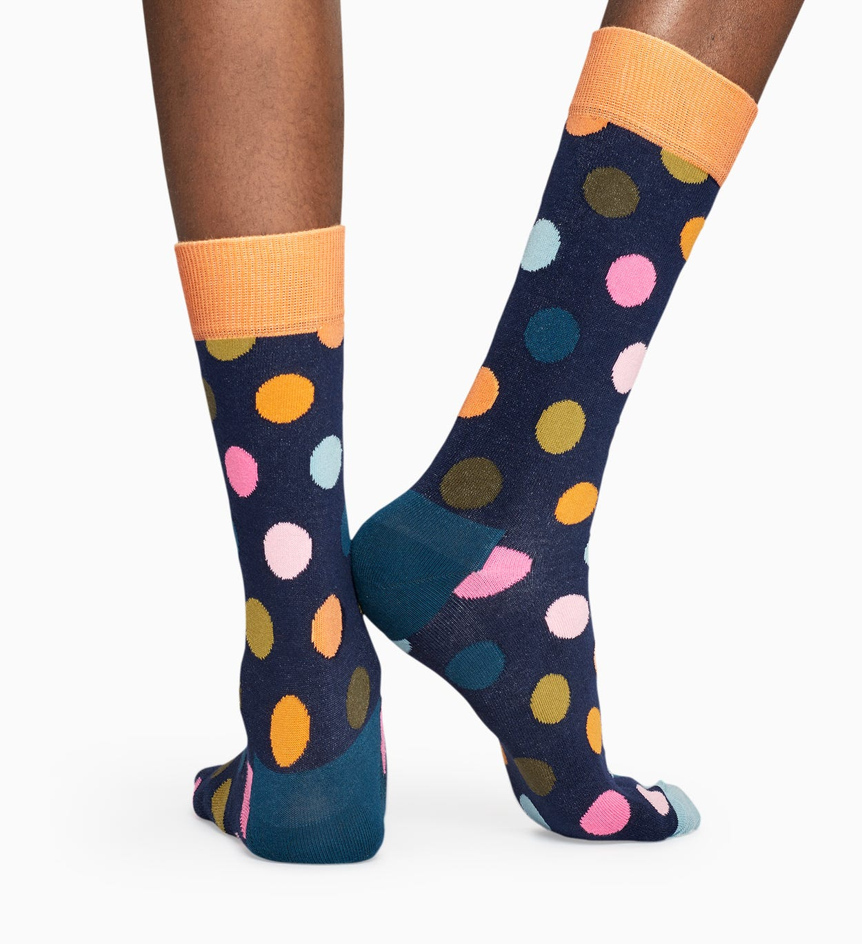 Dark Blue socks: Big Dot pattern | Happy Socks