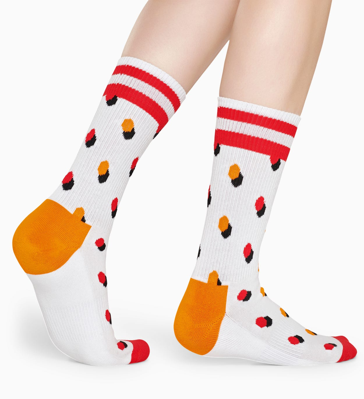 Calze Bianche, Rosse: Dot - ATHLETIC | Happy Socks