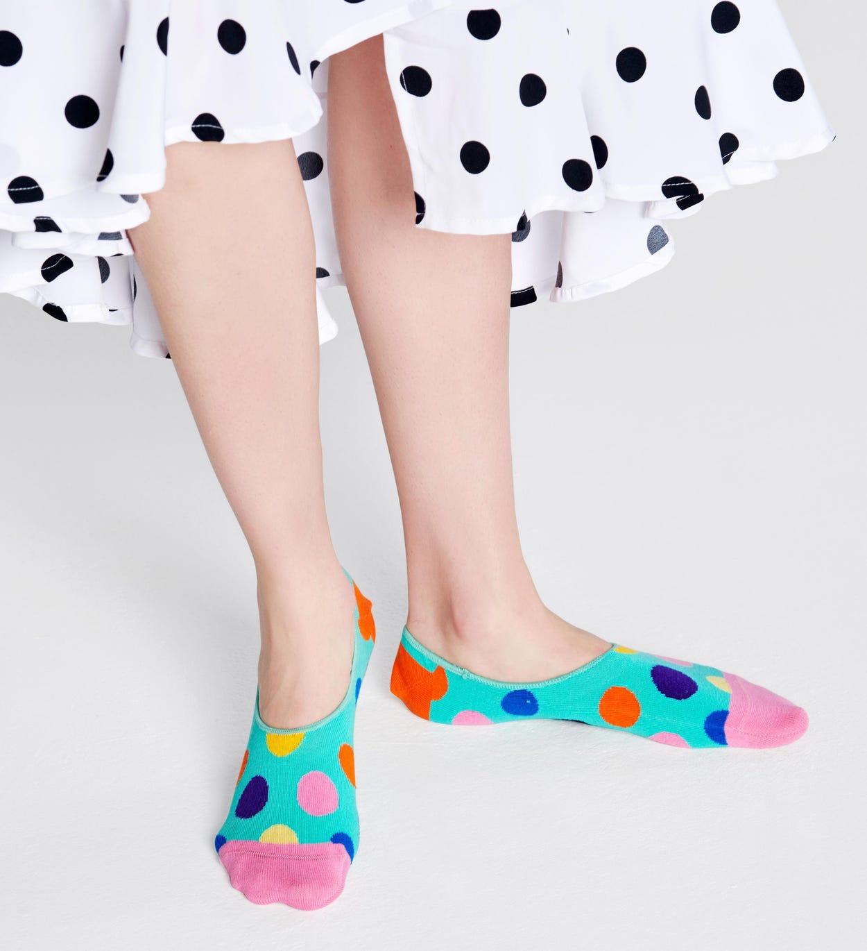 Big Dot Liner strumpor, Turkosa | Happy Socks