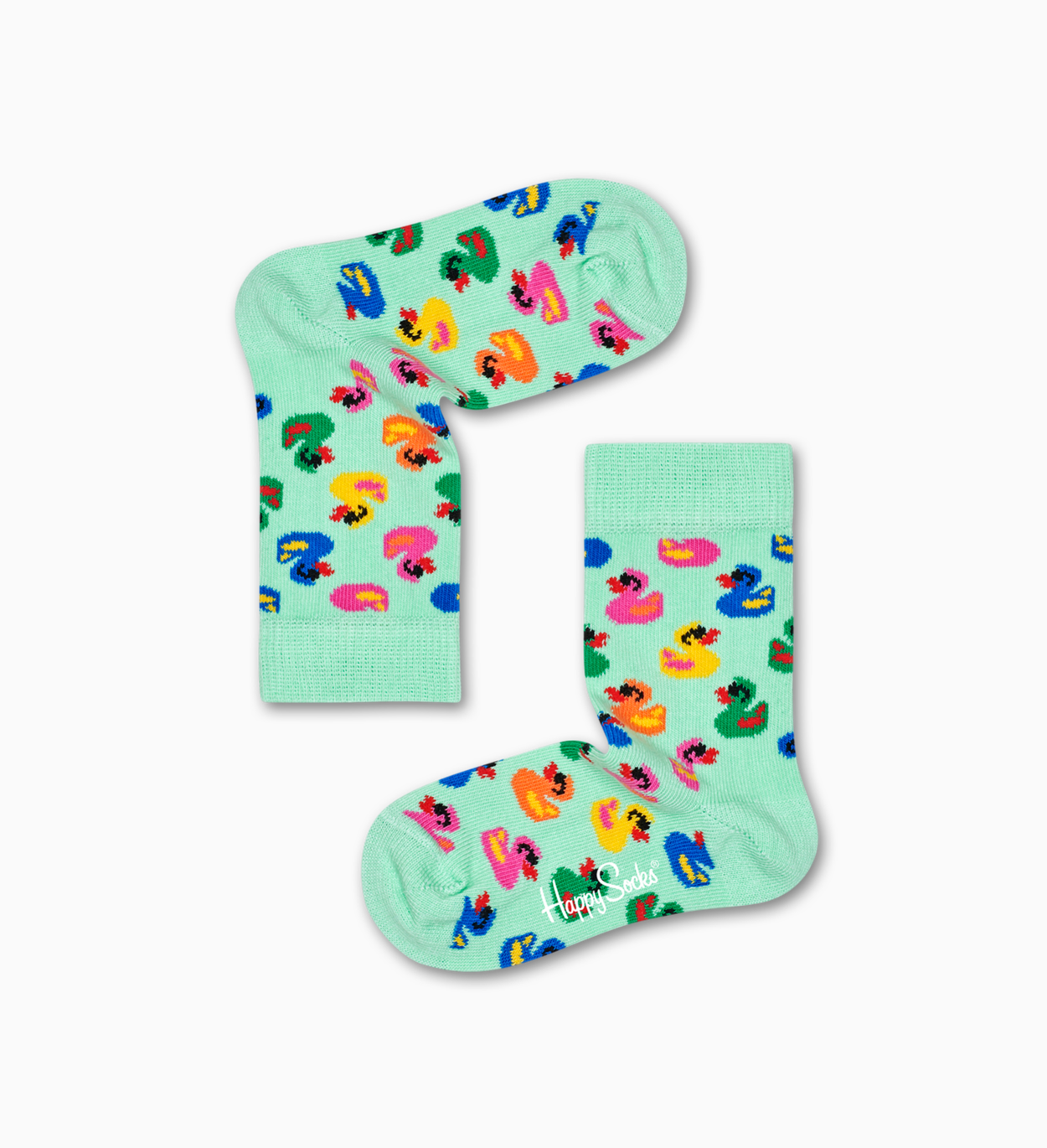 Kids & Baby Socks: Rubber Duck, Mint | Happy Socks