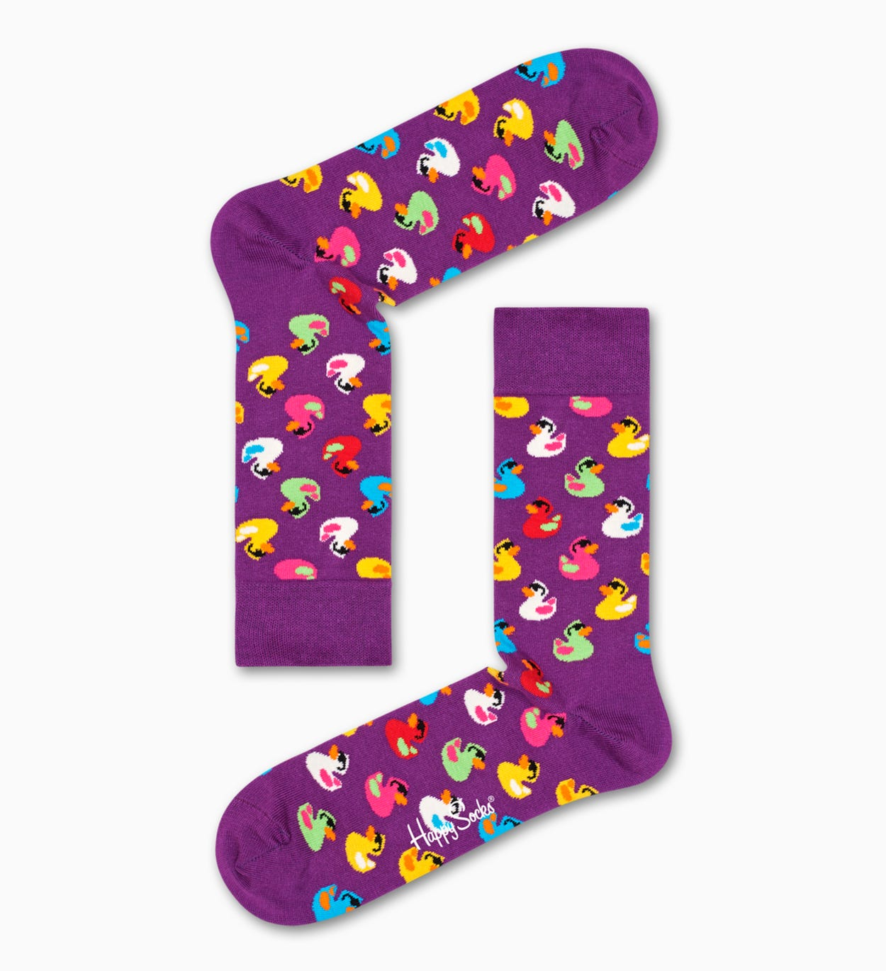 Patterned Purple Socks: Rubber Duck | Happy Socks
