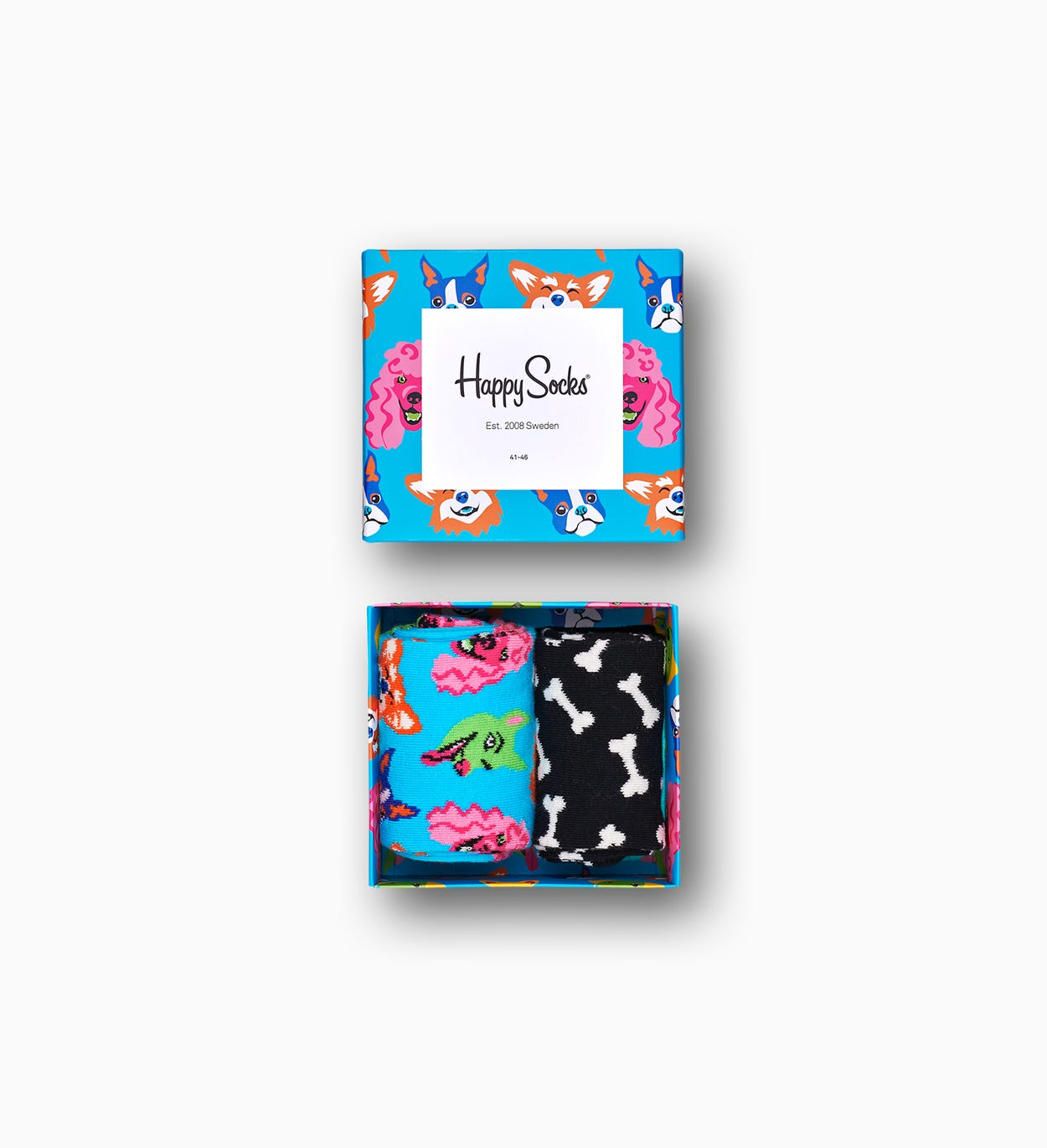Dog Gift Box, Blue | Happy Socks