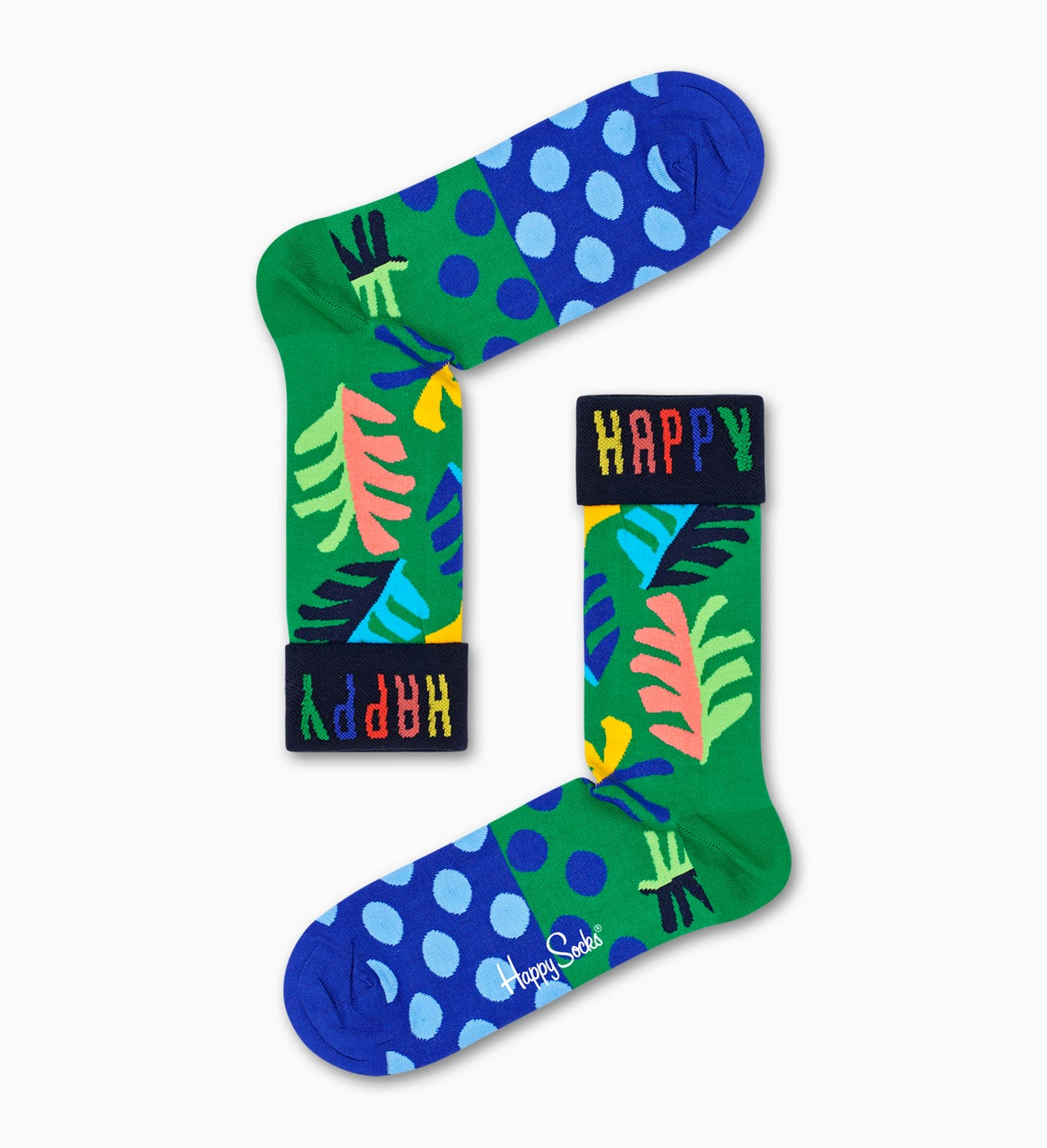 Big Leaf Socks, Green | Happy Socks