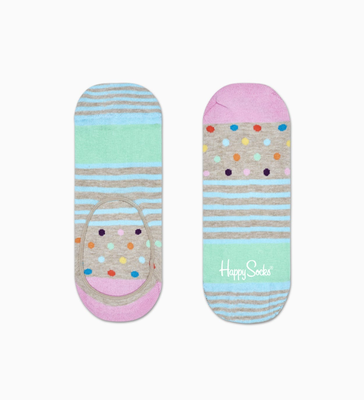 Stripes And Dots Liner Sock