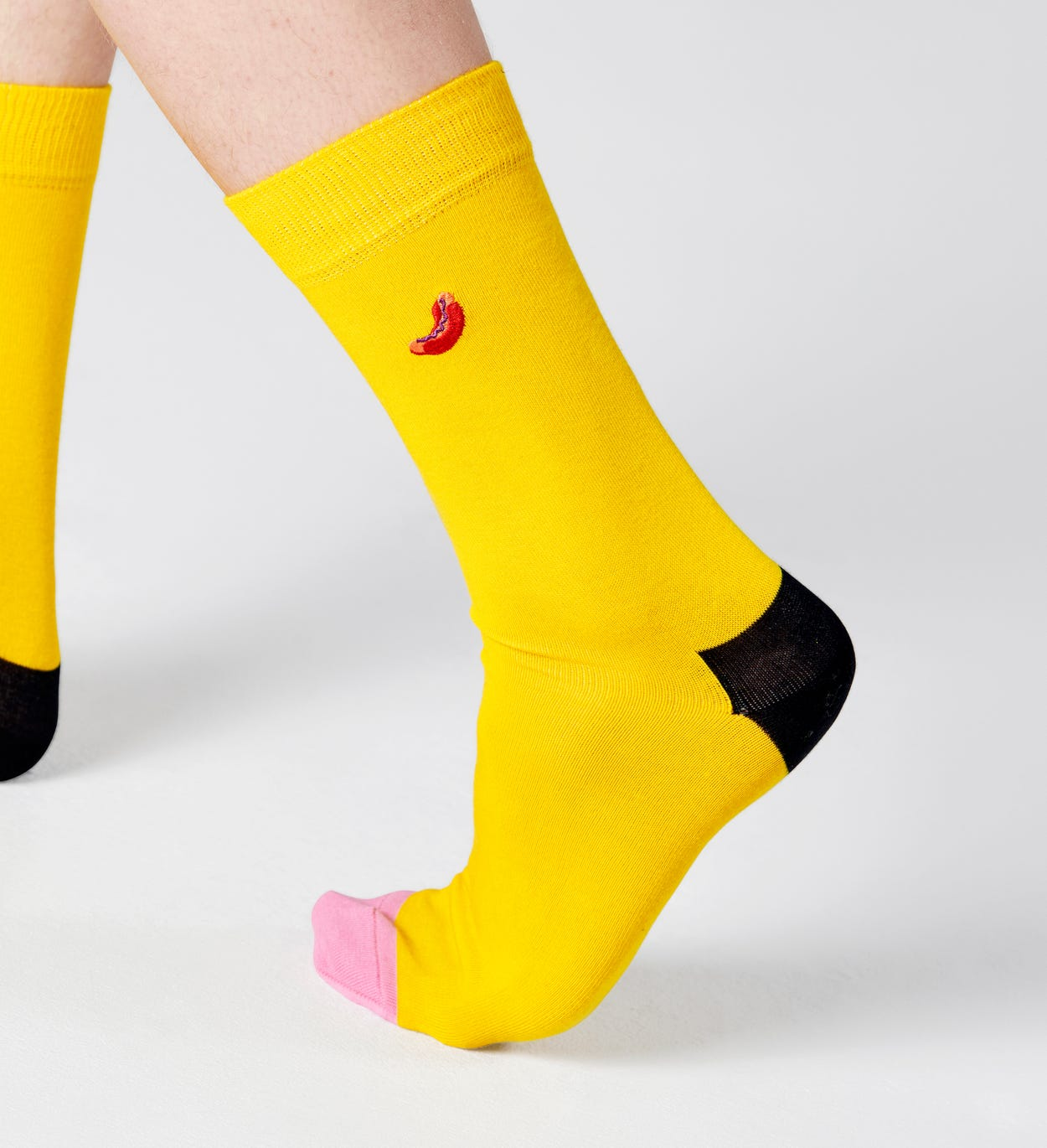 Embroidery Hot Dog Sock