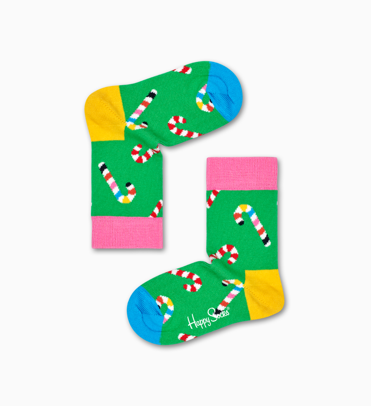Kids & Baby Socks: Candy Cane, Green | Happy Socks