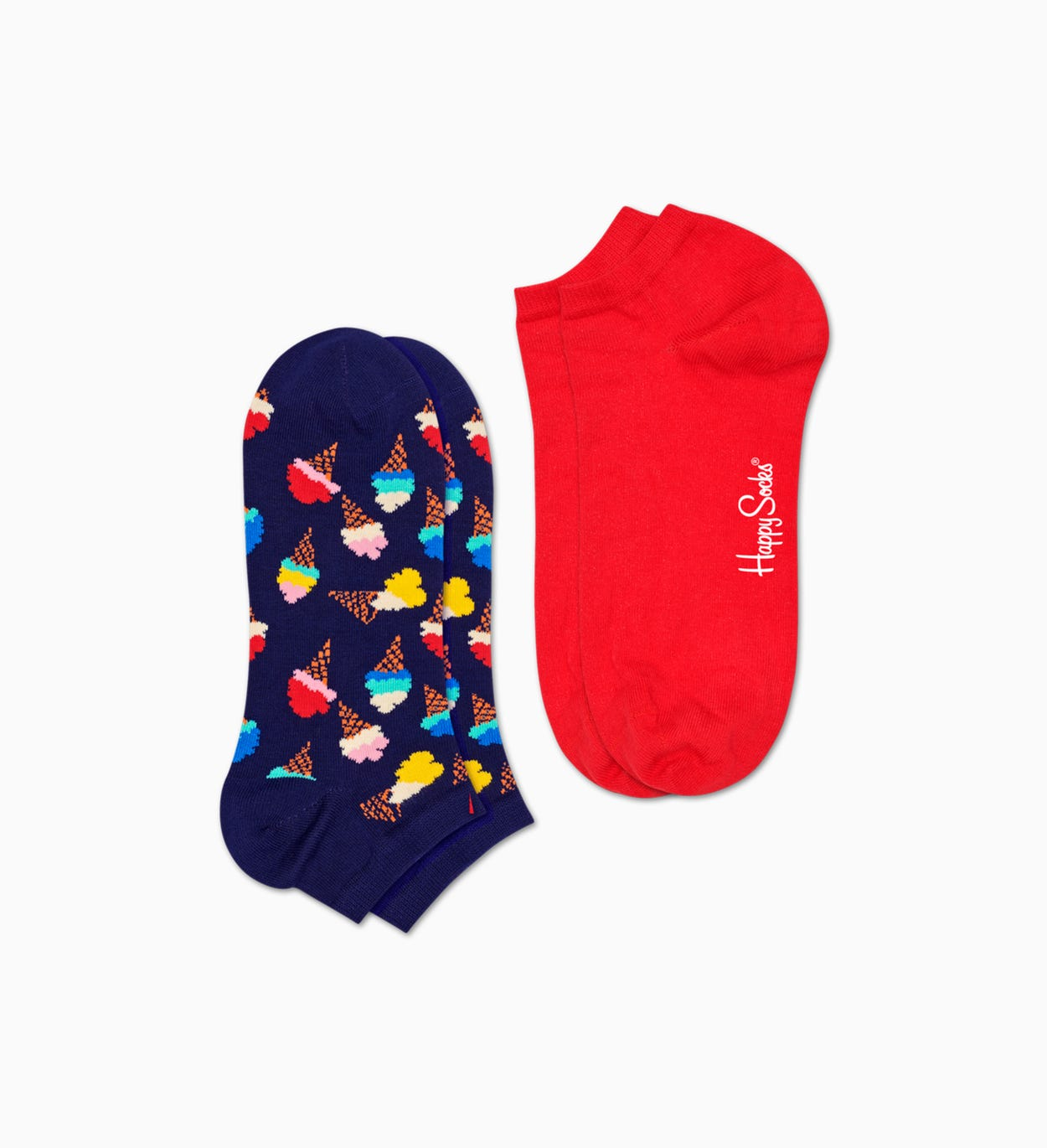 Blaue Sneaker-Socken, 2er Pack: Ice Cream | Happy Socks