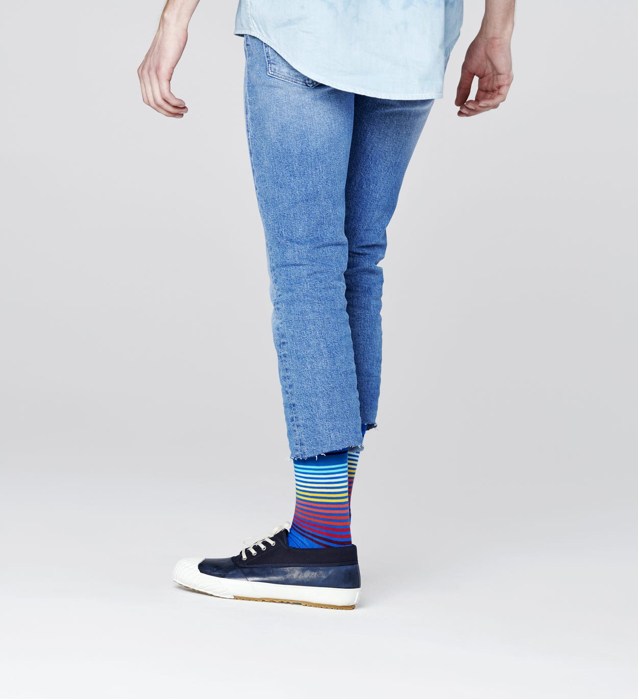 Calzini Half Stripe, Blu | Happy Socks